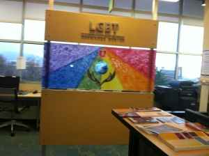 Mural located in the LGBT Resource Center.