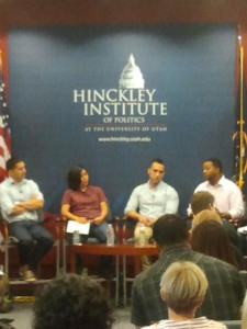 Pannel style discussion at the Hinkley Institute, Oct 4, 2012