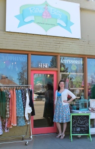 Amanda Parrish, owner of Retro Betty, wears items you can find in her store.