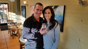 Giselle and Jason McClure show off their latest flavor of Chili Beak.