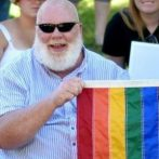 Connell O'Donovan, local LGBT activist, displays the LGBT flag. Photo provided by O'Donovan.