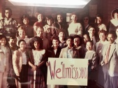 A farewell photo given to Brown from his colleagues.
