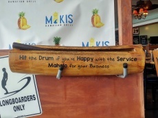 """Hit the Drum if you're Happy with the Service"""