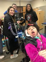 Jordan Valley student and peer LIA helpers during a session.