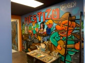 Mestizo mural shows the idea of cultural and familial mixing.