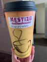 A cup for hot drinks at Mestizo.